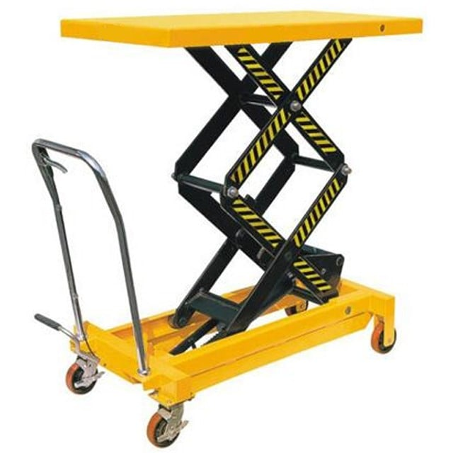 Exceptional Mobile Double Scissor Lift Table