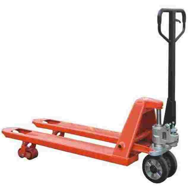 Red Hand Pallet Truck with Double Rollers