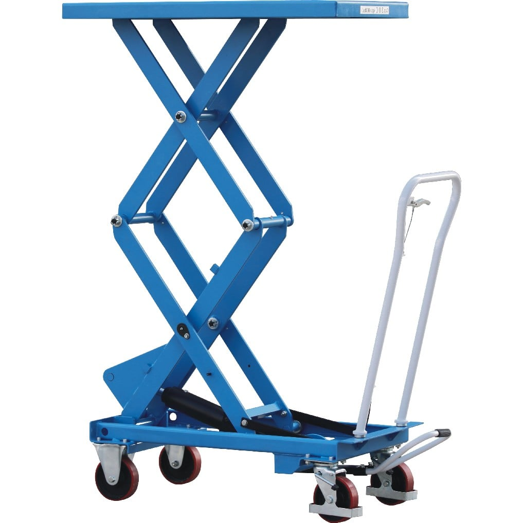 800kg Double Scissor Lift Truck Maximum Lift Height 1 4m