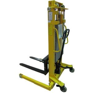 1.6m 1000kg Manual Stacker Truck with Adjustable Base Legs