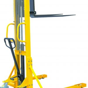 1.5m 1000kg Manual Straddle Stacker Truck