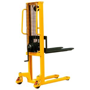 1000kg manual winch stacker truck