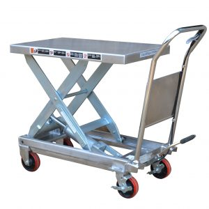 TF30S Partial Stainless Steel Scissor Lift Table 300kg