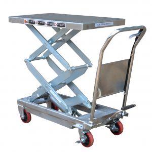 Partial Stainless Steel Double Scissor Lift Table 350kg